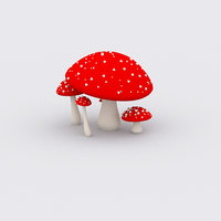 3D model mushroom subdivision