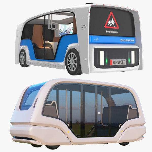 3D electric pod bus