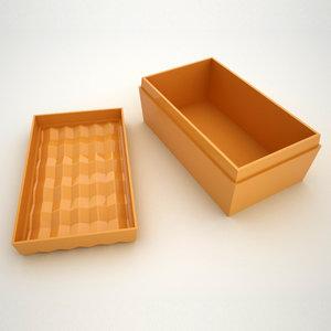 3D box gift giftbox model