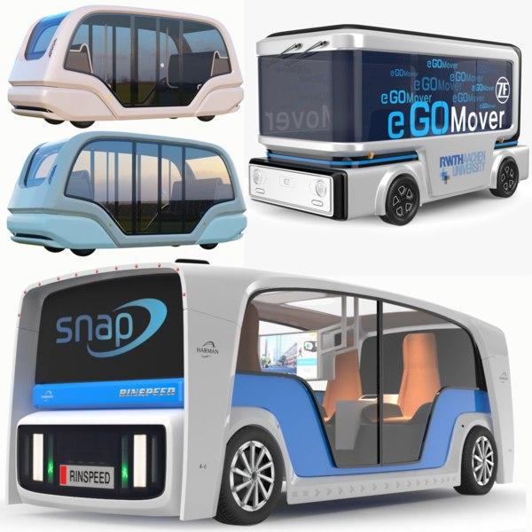 3D model electric bus buses