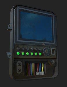 3D sci-fi control panel