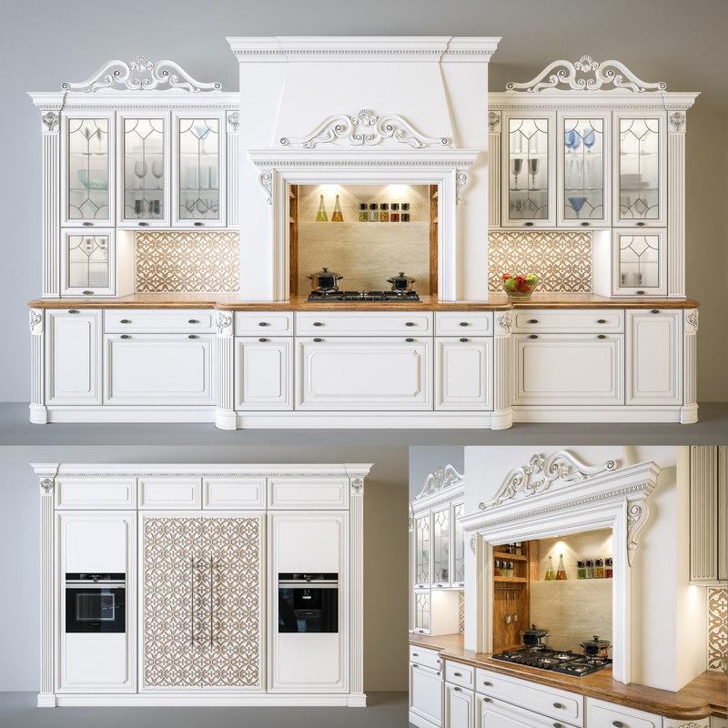 3D kitchen regina dama d model