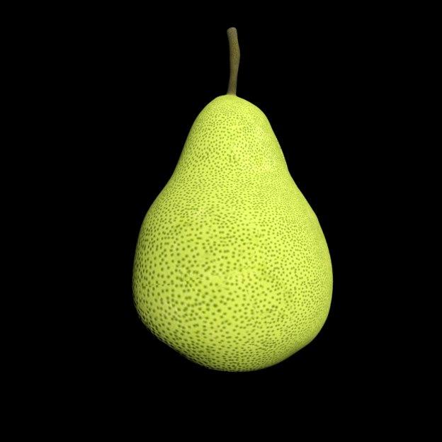 3D green pear