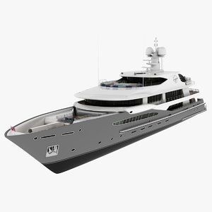 3D imagine yacht simulation model
