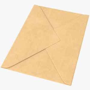 3D model real mail envelope
