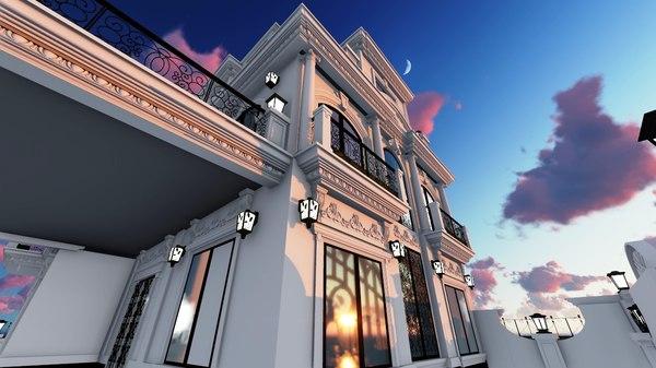 villa residential 3D model