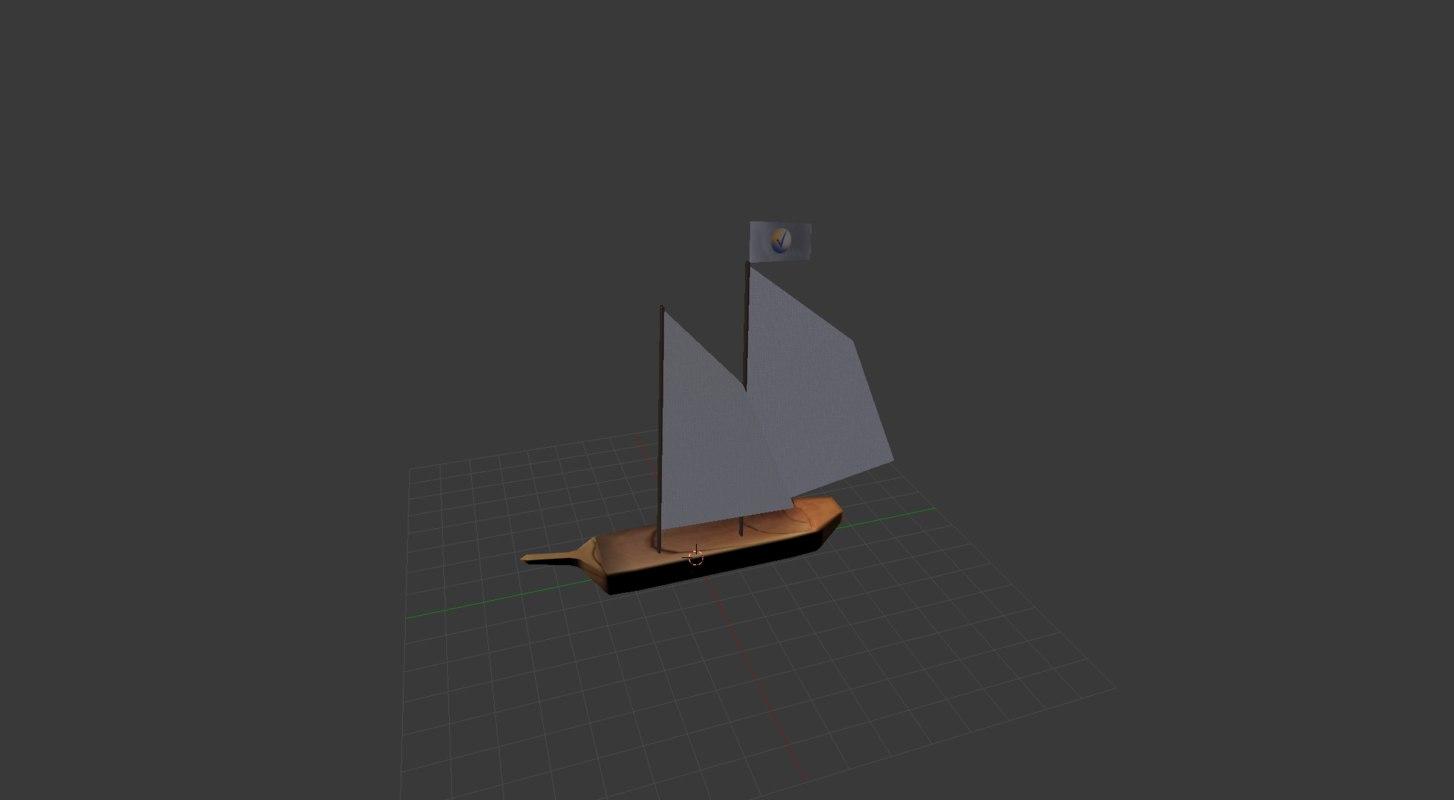 3D sailboat sail boat