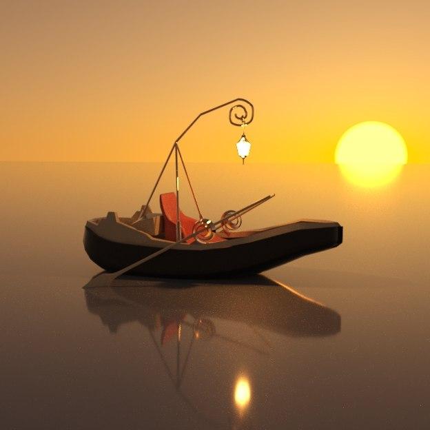 fantasy boat 3D