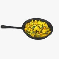 vegetables pan 3D model