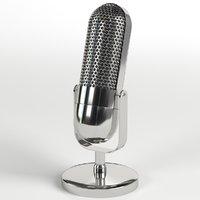 3D vintage microphone mic