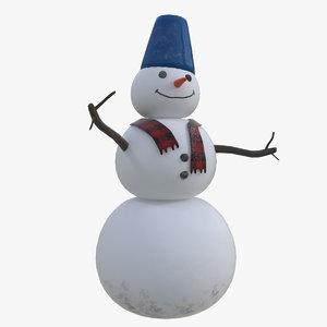 3D snowman snow man model