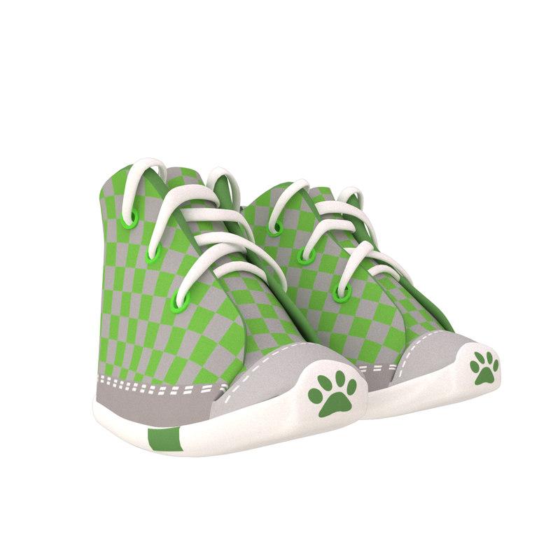 pet shoes 3D model