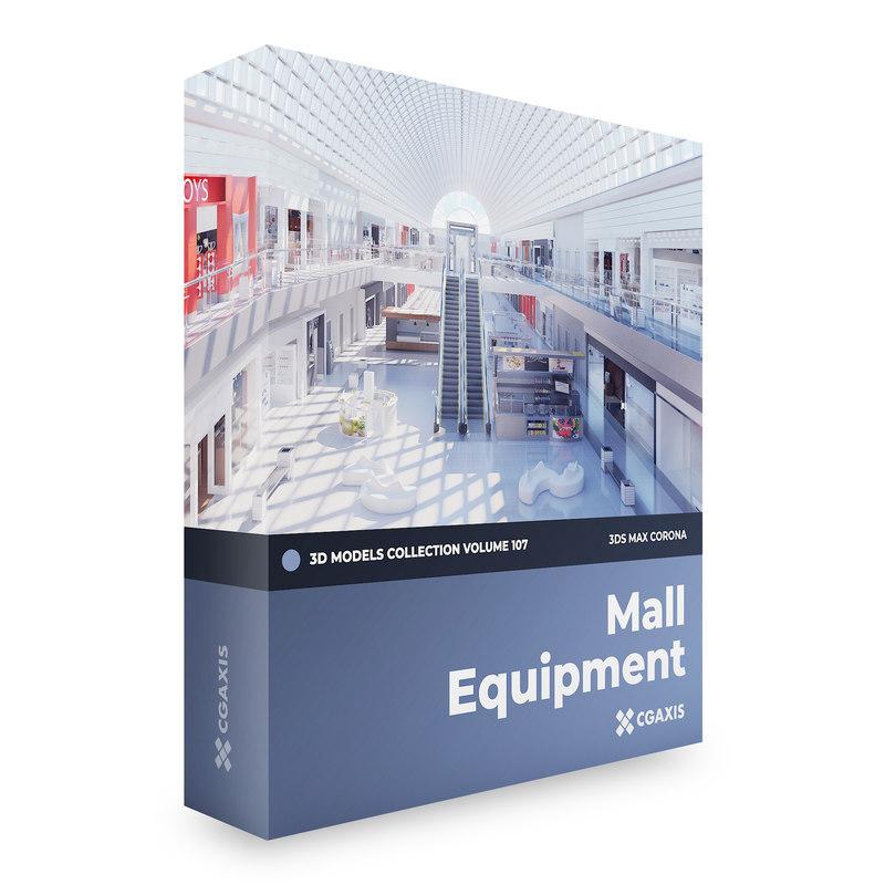 3D mall equipment corona model