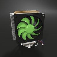 cooling radiator computer 3D