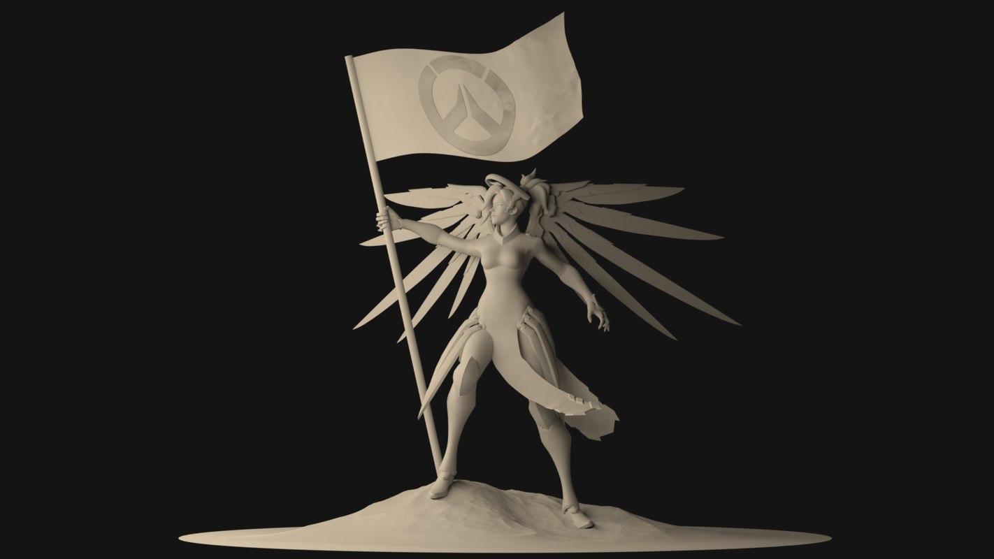 mercy rigged 3D model
