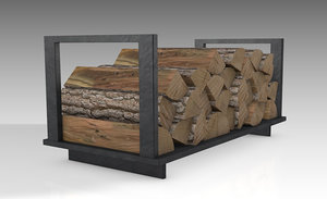 3D firewood wood rack model