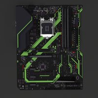 3D motherboard computer model