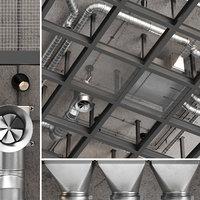 3D model ceiling ventilation 5