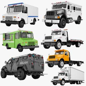 mail truck 01 3D