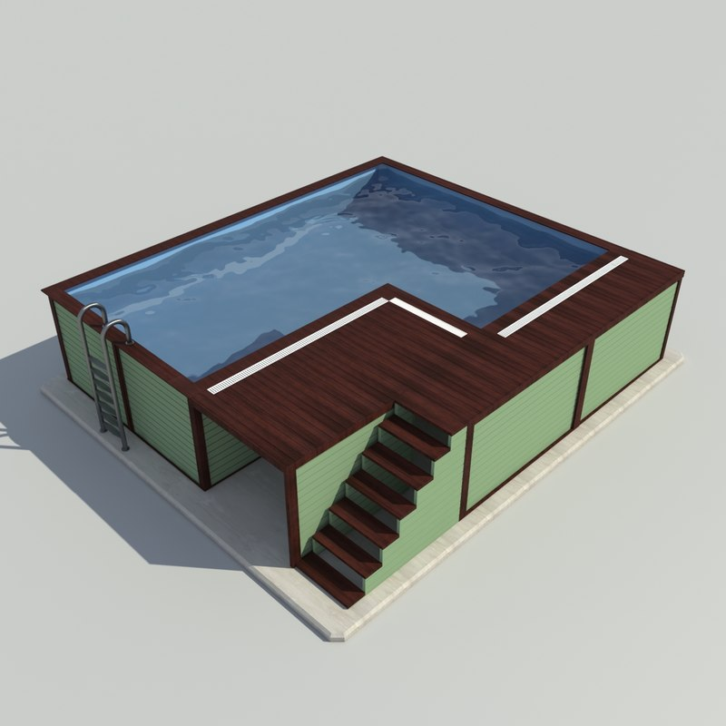 3D gardens pool