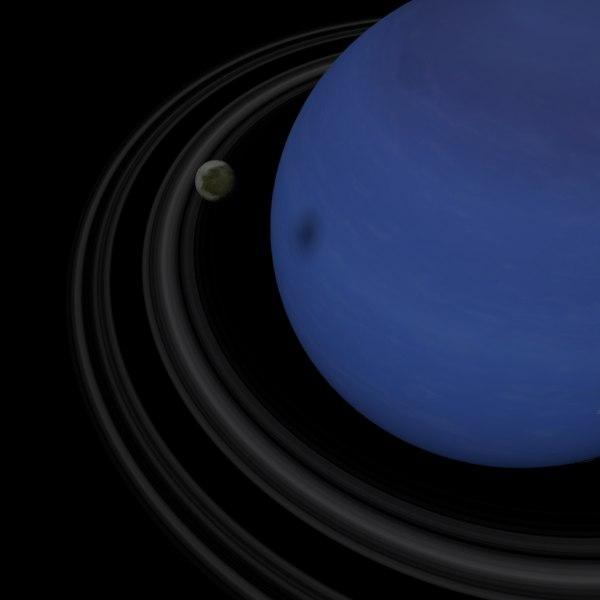 realistic neptune 16k planet 3D model