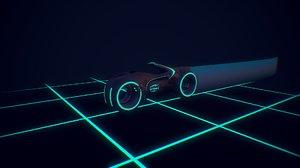light cycles tron 3D model