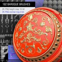 3D pack 182 brushes baroque model
