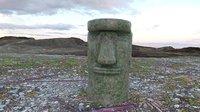 3D model moai sculpt