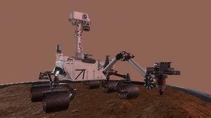 curiosity rover mars nasa 3D model