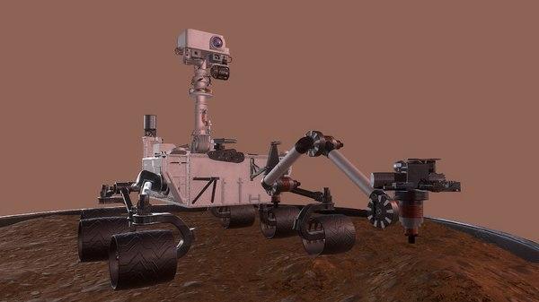 curiosity rover mars nasa 3D model