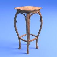 art nouveau stool 3D
