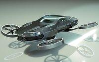 3D car copter model