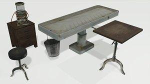 3D model vintage mortuary items