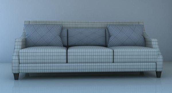 sofa 2 seater 3D model