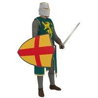 3D rigged knight helmet
