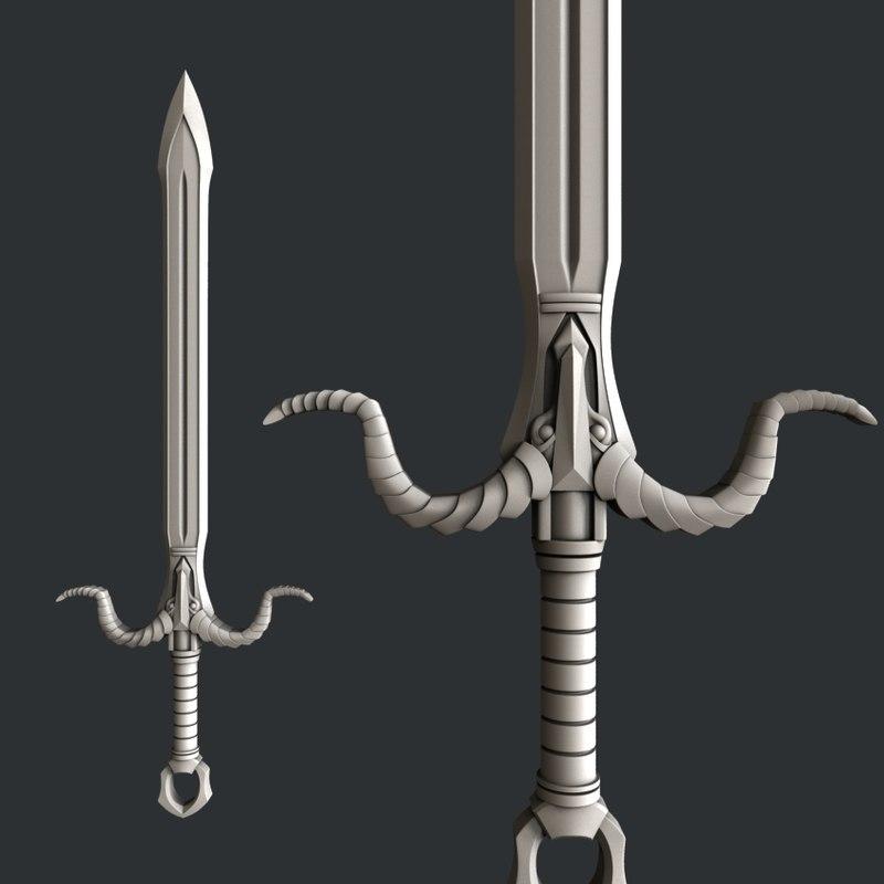 cnc sword 3D model