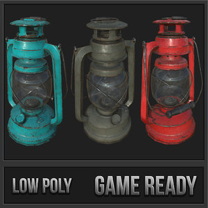 3D oil lanterns pbr lamp