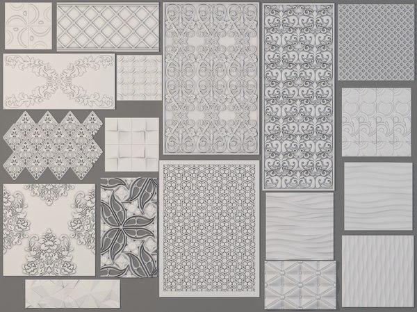 18 piece panels 3D model