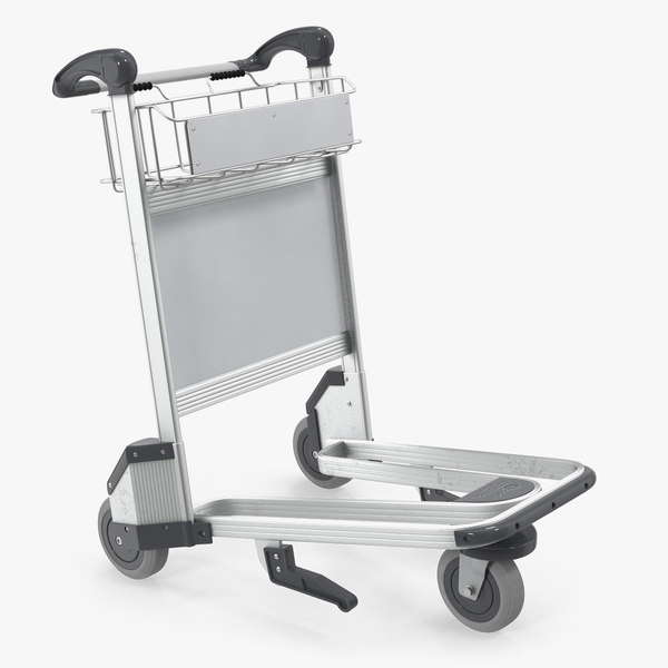 3D airport luggage trolley air