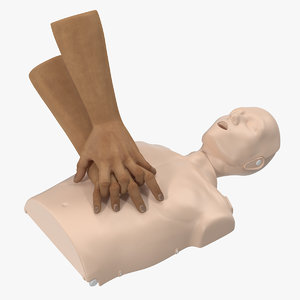 chest compressions cpr dummy 3D model