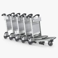 Baggage Airport Trolleys 3D Model
