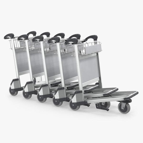 baggage airport trolleys air model