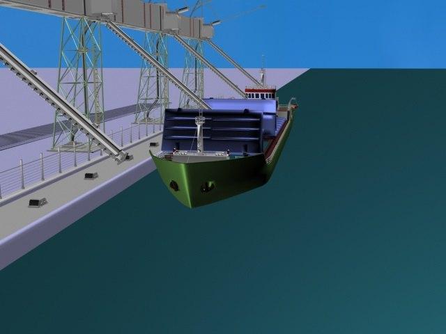 scene ship 3D model