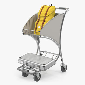 3D duty airport luggage trolley