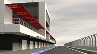 3D pit stop building model