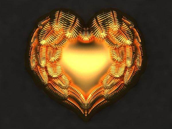3D model heart mold hand