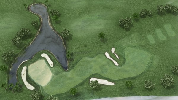 3D golf course model