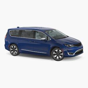3D generic hybrid minivan