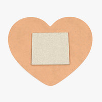 heart shaped band aid 3D model