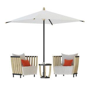 3D model swing lounge chair tabel